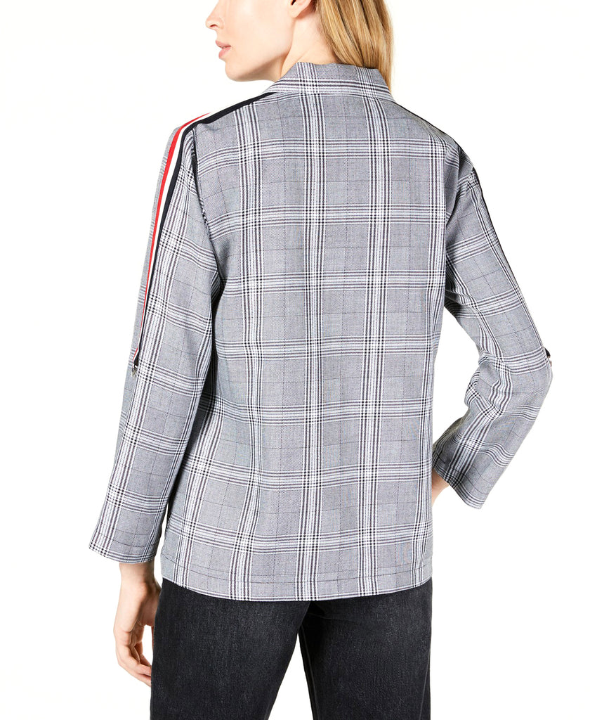 Yieldings Discount Clothing Store's Plaid And Stripe Blazer by Project 28 in Black/White