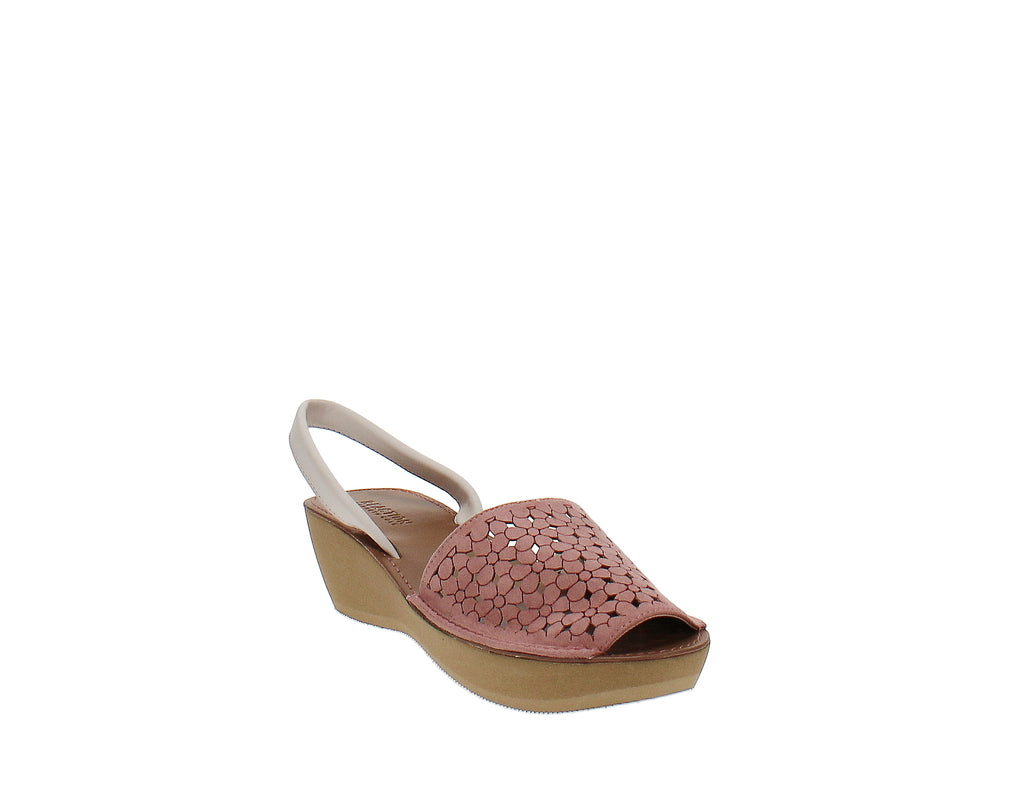Yieldings Discount Shoes Store's Fine Glass Platform Wedge Sandals by Reaction Kenneth Cole in Guava