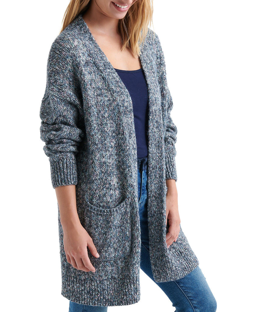 Yieldings Discount Clothing Store's Cable Sleeve Cardigan by Lucky Brand in Multi