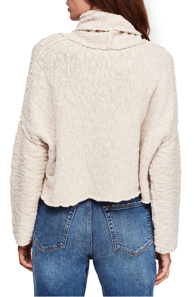 Yieldings Discount Clothing Store's Big Easy Cowl Sweater by Free People in Cream