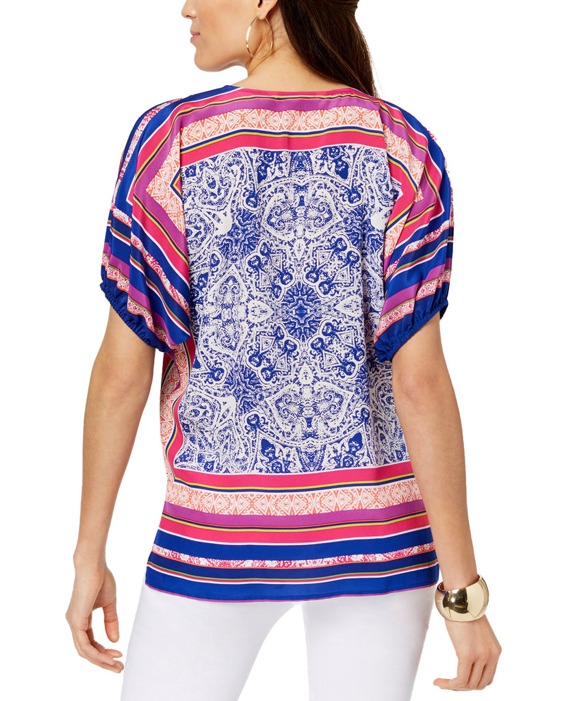 Yieldings Discount Clothing Store's Floria Blouse Top by Trina Turk in Multi