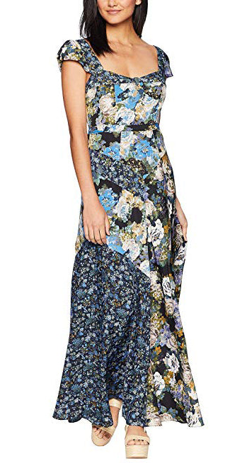 Yieldings Discount Clothing Store's Le Fleur Maxi Dress by Free People in Dark Blue