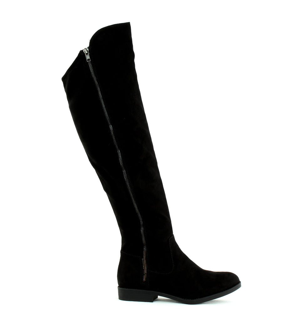 Yieldings Discount Shoes Store's Hadleyy Flat Boots by Style & Co in Black
