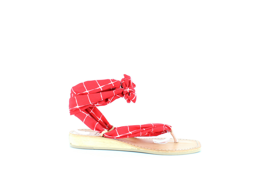 Yieldings Discount Shoes Store's Henlee Sandals by Dolce Vita in Red Fabric