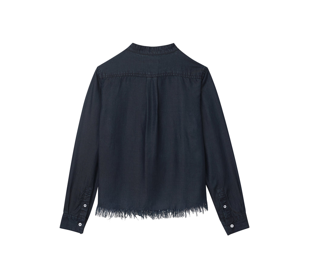 Yieldings Discount Clothing Store's Marnie - Long Sleeve Crop by DL1961 in Washed Black Overdye