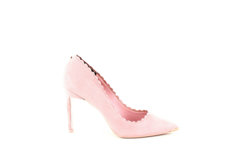 Yieldings Discount Shoes Store's Sloana Pointy Toe Pumps by Ted Baker London in Pink Blossom