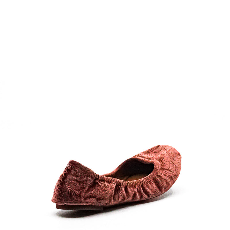 Yieldings Discount Shoes Store's Emmie Embossed Velvet Paisley Ballet Slippers by Lucky Brand in Sable