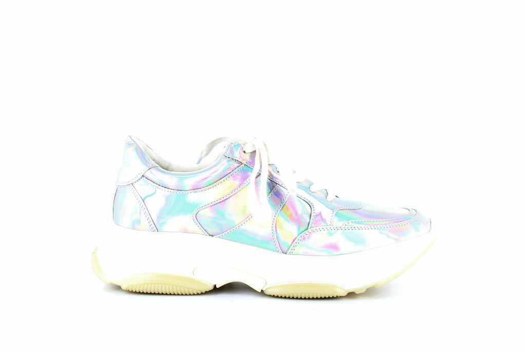 Yieldings Discount Shoes Store's Ike Lace-Up Sneakers by Aqua in Iridescent