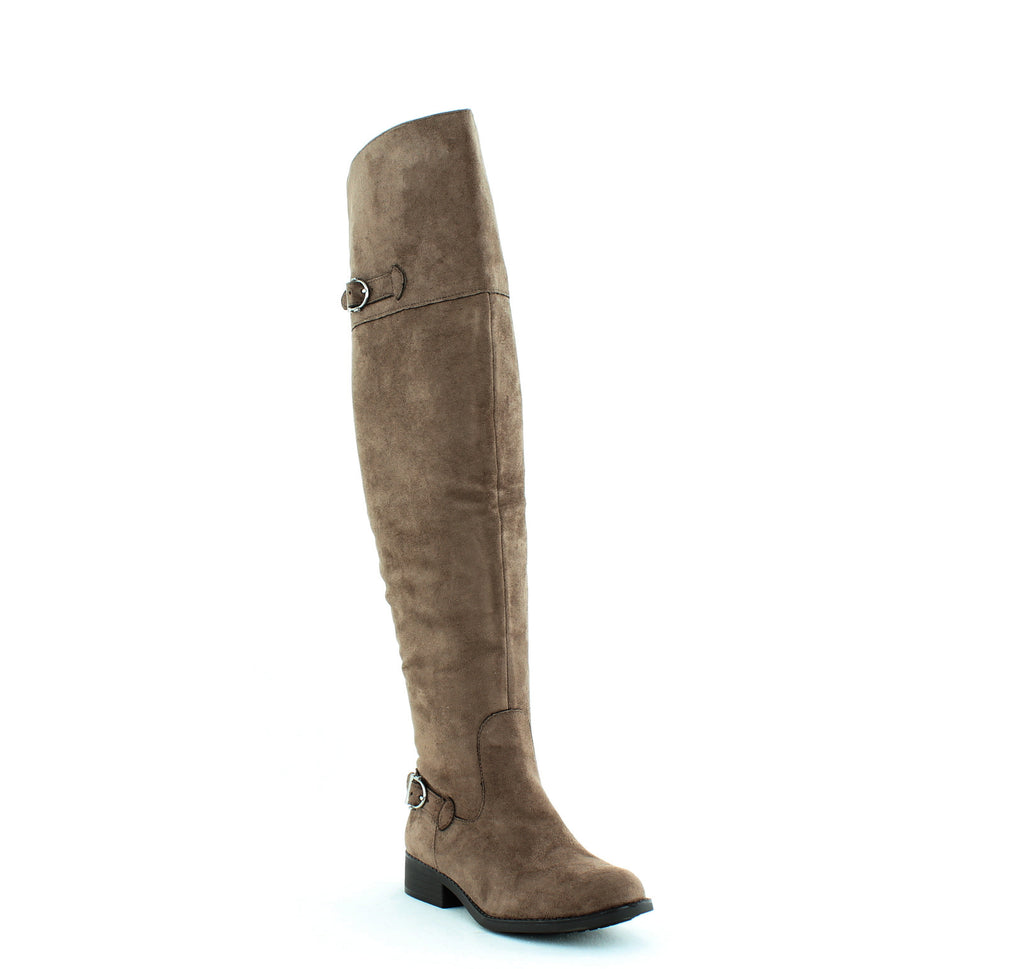 Yieldings Discount Shoes Store's Adarra Over The Knee Boots by American Rag in Truffle