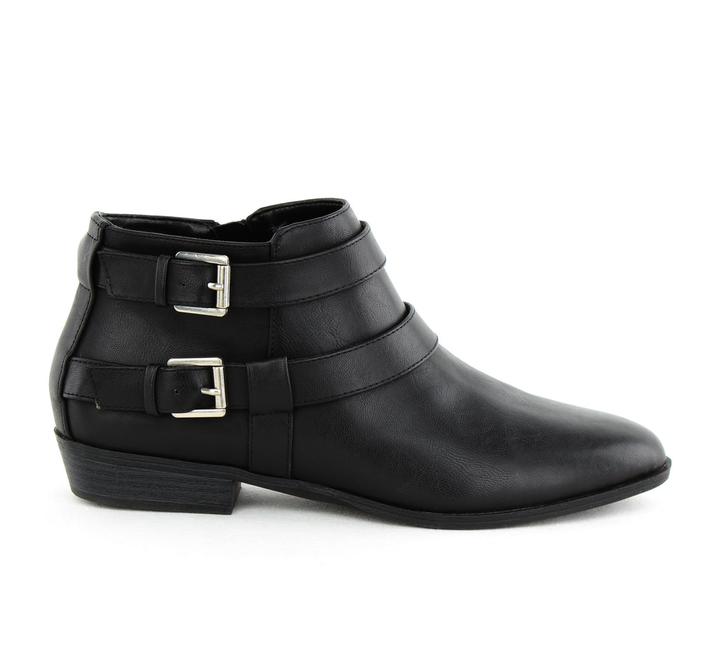 Yieldings Discount Shoes Store's Deenah Block Heel Ankle Boots by Style & Co in Black