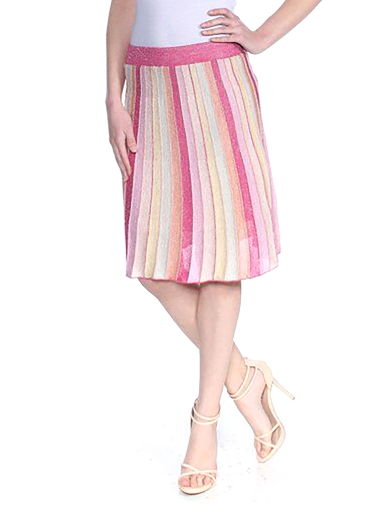 Yieldings Discount Clothing Store's Izzy Flared A-Line Skirt by Guess in Ballerina Multi