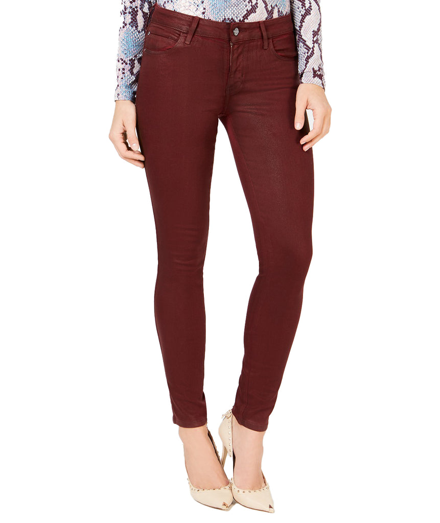 Yieldings Discount Clothing Store's Coated Skinny Jeans by Guess in Petite Syrah