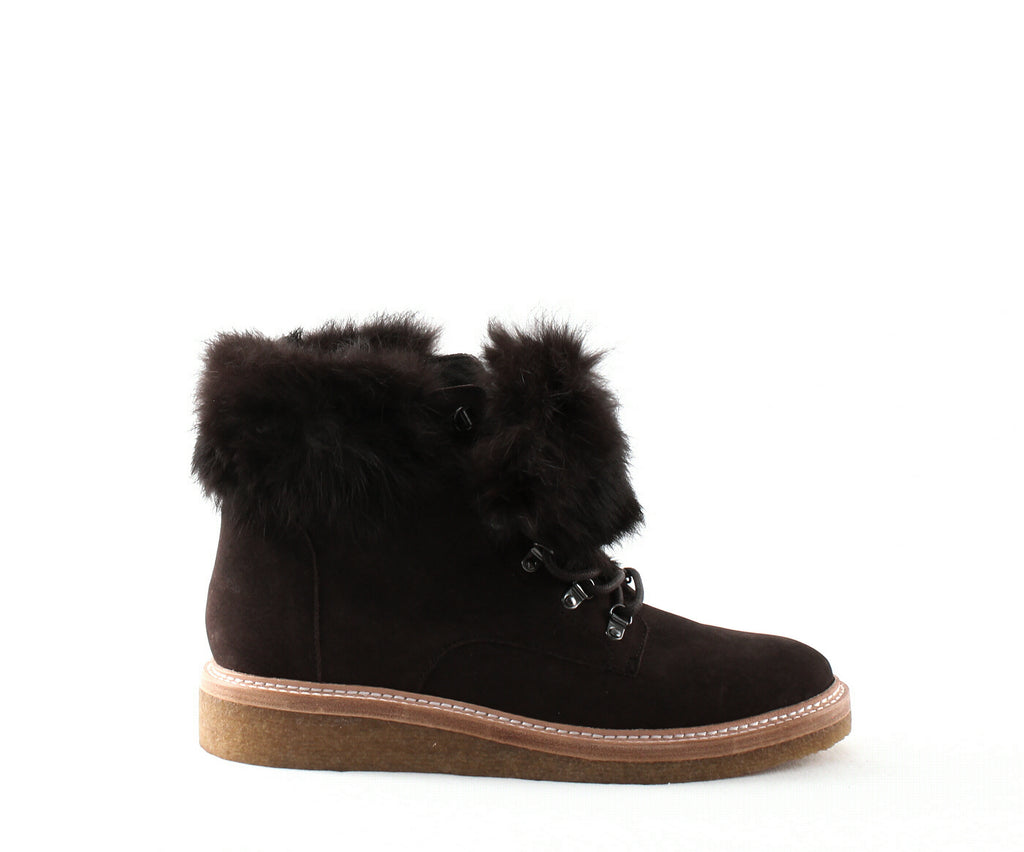 Botkier | Winter Leather & Fur Lace up Booties