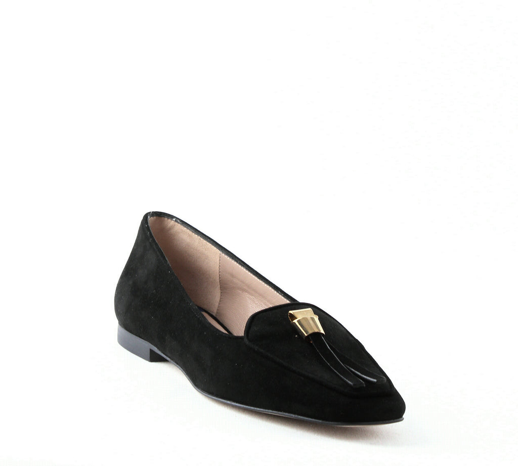 Yieldings Discount Shoes Store's Slipknot Loafers by Stuart Weitzman in Black
