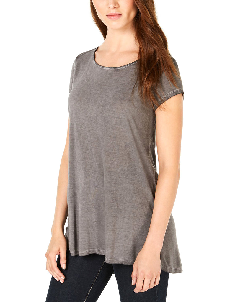 Yieldings Discount Clothing Store's Strappy-Back T-Shirt by Bar III in New Grey Knight