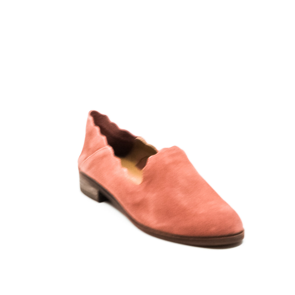 Yieldings Discount Shoes Store's Chaslie Canyon Scalloped Loafers by Lucky Brand in Rose