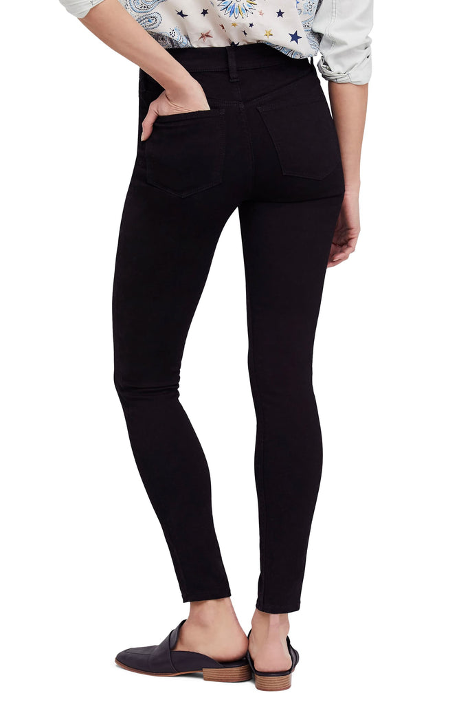 Yieldings Discount Clothing Store's Long & Lean High Waist Denim Leggings by We The Free By Free People in Black