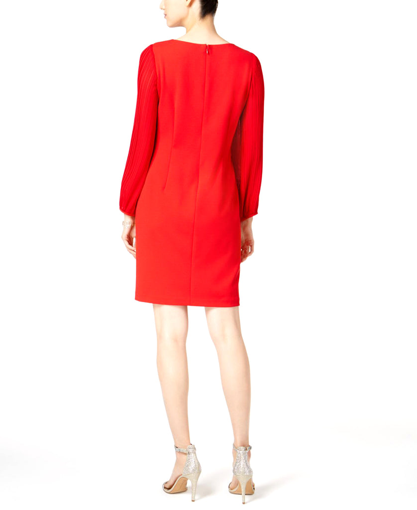 Donna Ricco | Pleated-Sleeve Shift Dress
