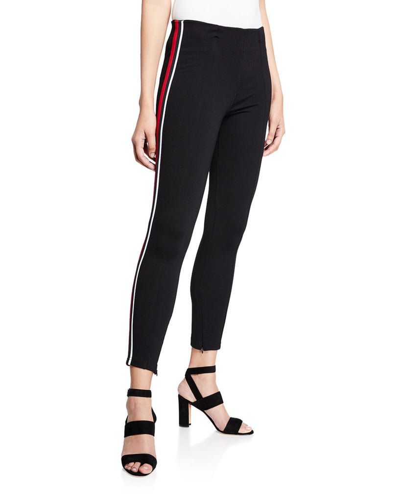 Yieldings Discount Clothing Store's Track Striped Pants by Sanctuary in Black