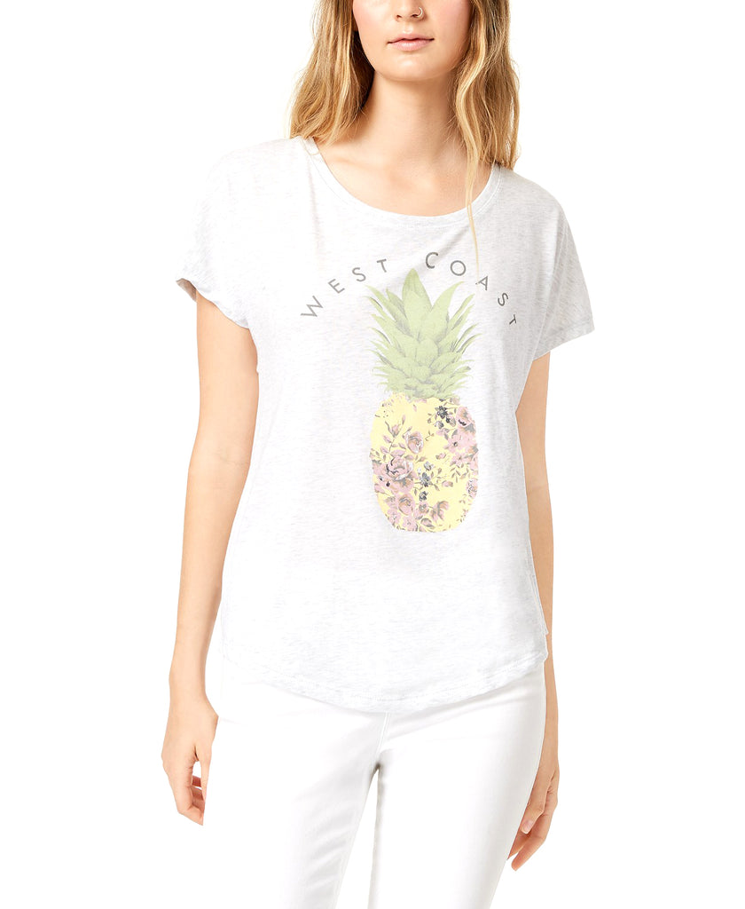 Yieldings Discount Clothing Store's Pineapple Graphic T-Shirt by True Vintage in Heather Grey