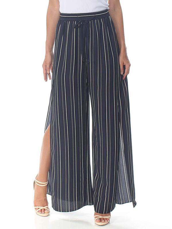Yieldings Discount Clothing Store's Side Slit Pants by RACHEL Rachel Roy in Navy Combo