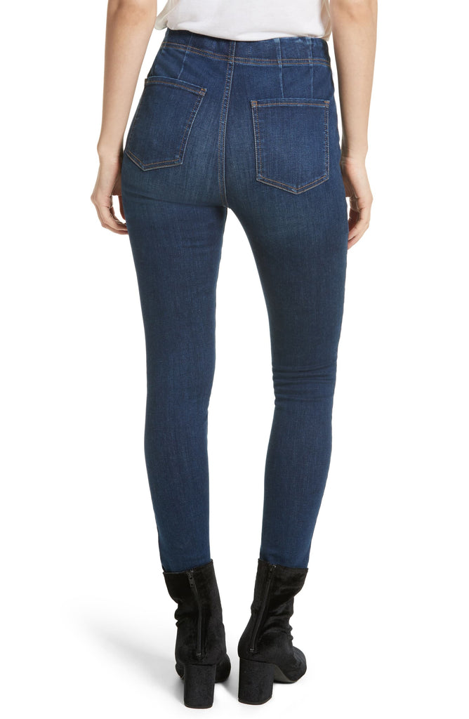 Yieldings Discount Clothing Store's Ultra High Pull-On Jeans by Free People in Blue
