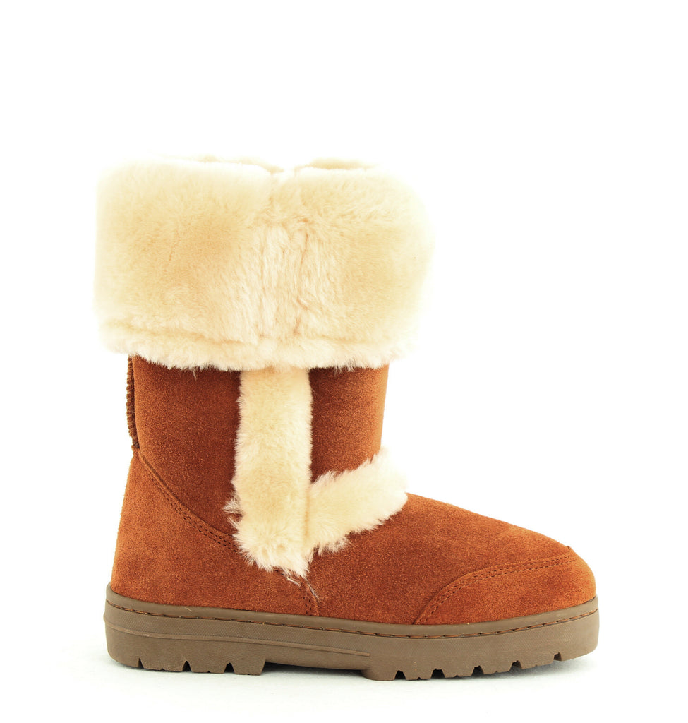 Yieldings Discount Shoes Store's Witty Faux-Fur Cold Weather Boots by Style & Co in Chestnut