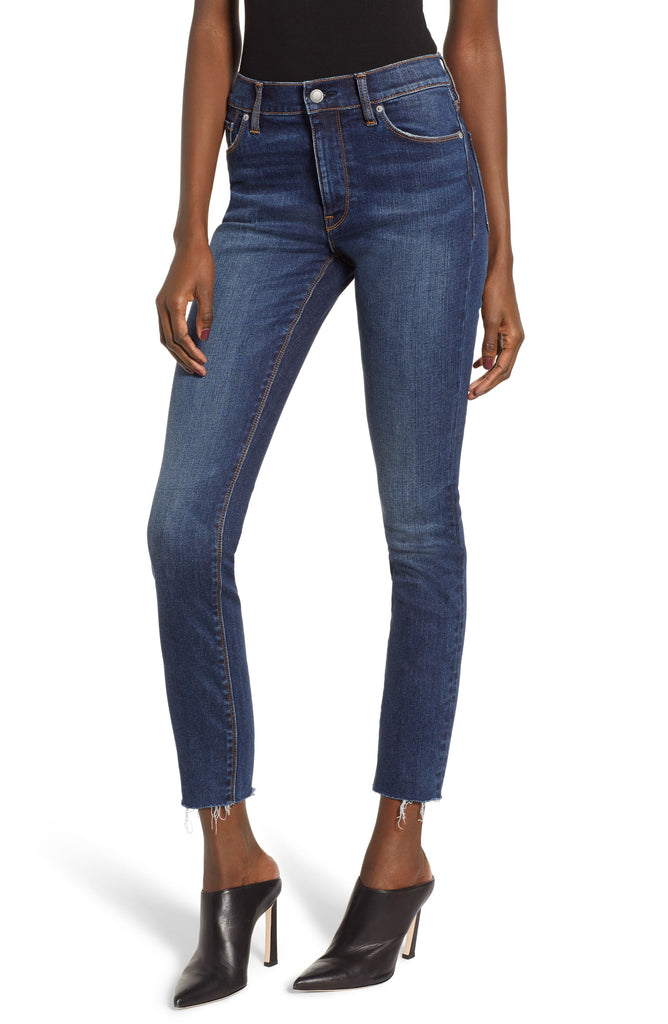 Yieldings Discount Clothing Store's Barbara High Waisted Super Skinny Ankle Jeans by Hudson in Blue