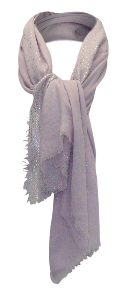 Yieldings Discount Accessories Store's Ombre Metallic Foil Oversized Square Scarf by INC in Lilac