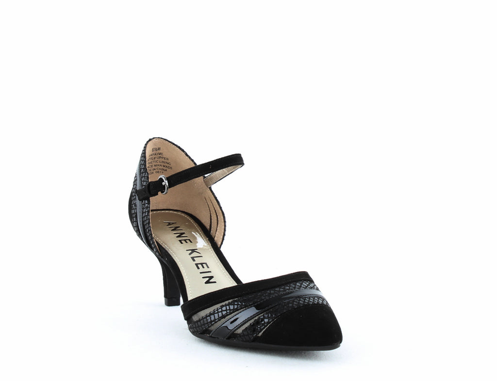 Yieldings Discount Shoes Store's Fayme Fabric Pump by Anne Klein in Black