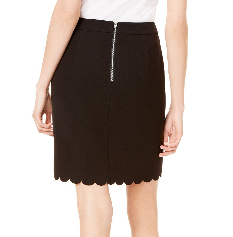 Yieldings Discount Clothing Store's Scallop Hem Skirt by Maison Jules in Deep Black