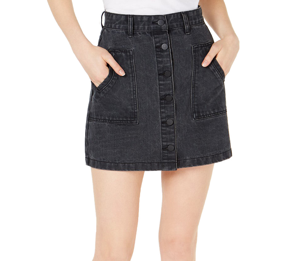 Sage the Label | Bisous Cotton Denim Mini Skirt