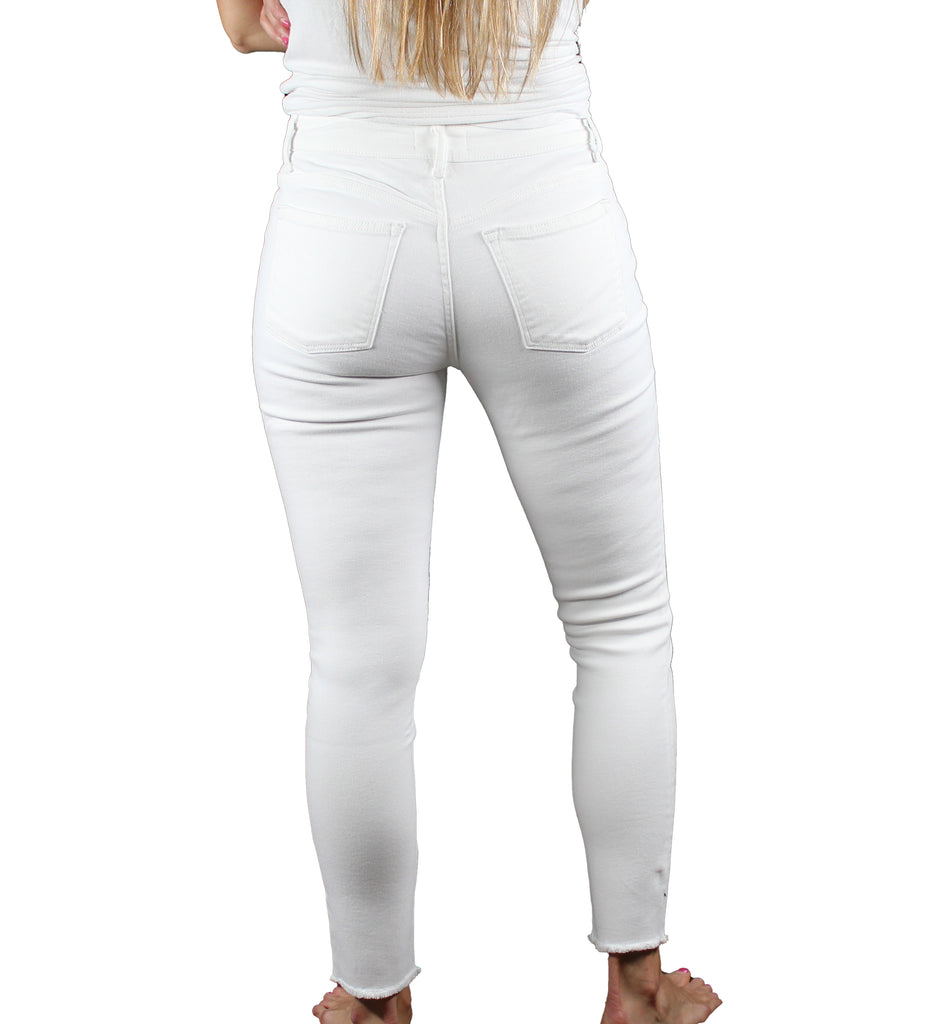 Yieldings Discount Clothing Store's JFK - Skinny Jeans by Warp + Weft in White