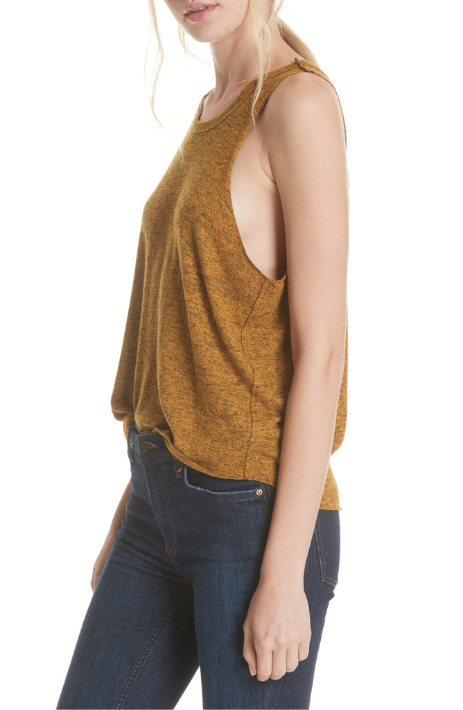 Yieldings Discount Clothing Store's Swing Tank Sleeveless Scoop-Neck Top by Free People in De Soleil