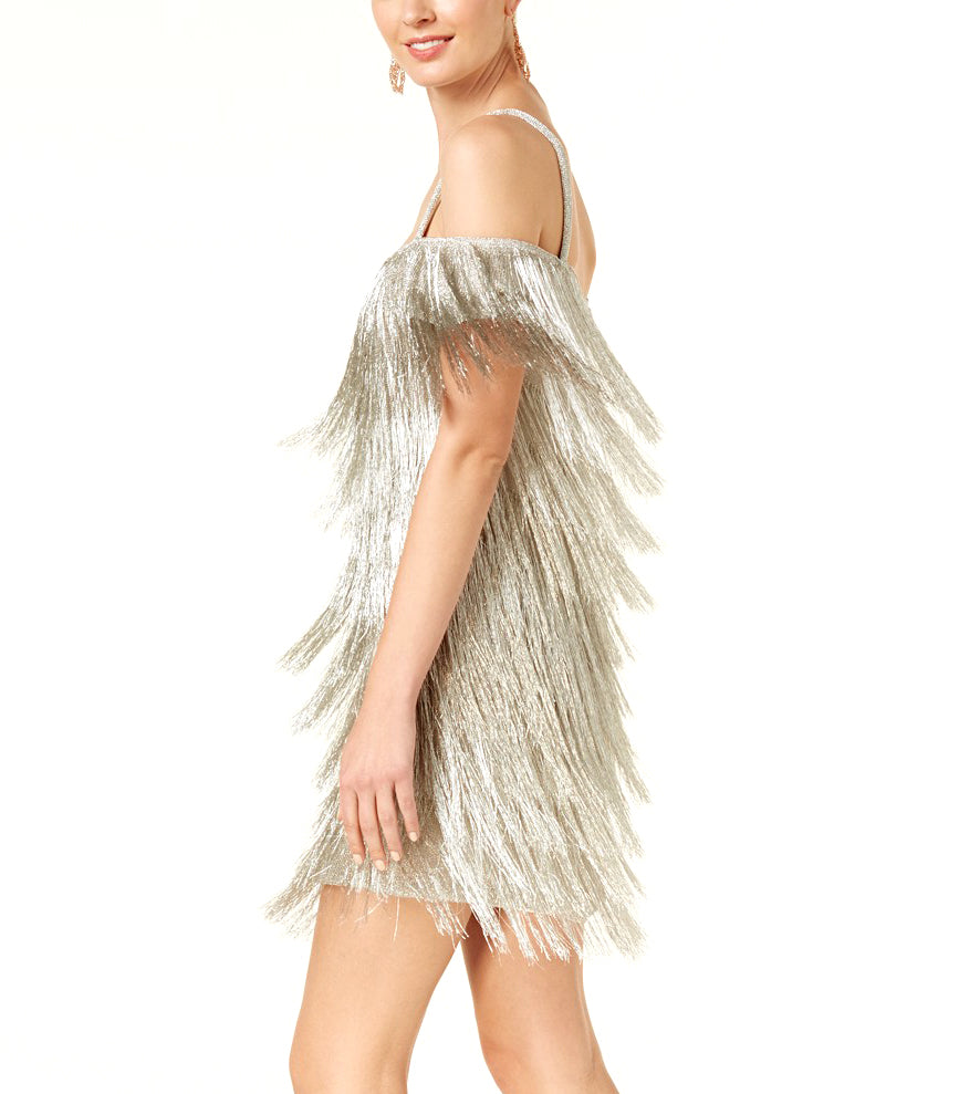 Rachel Zoe | Off The Shoulder Fringe Dress