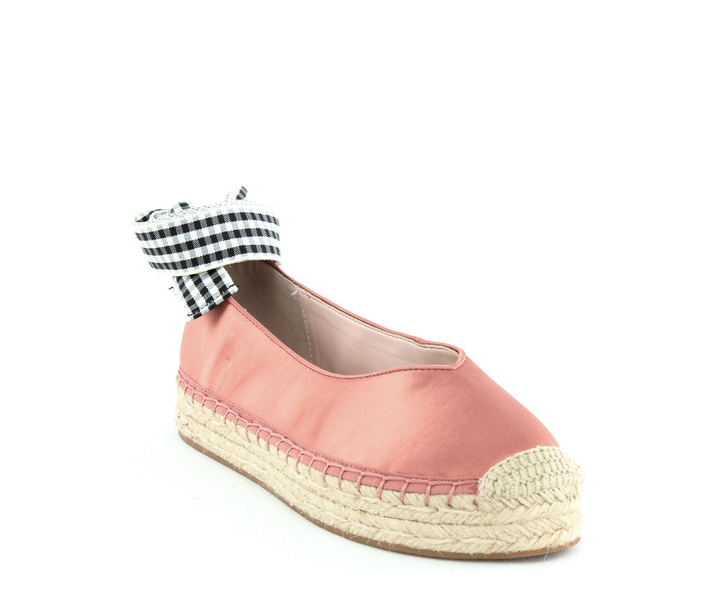 Yieldings Discount Shoes Store's Georgie Slip Ons by Avec Les Filles in Dusty Rose Satin