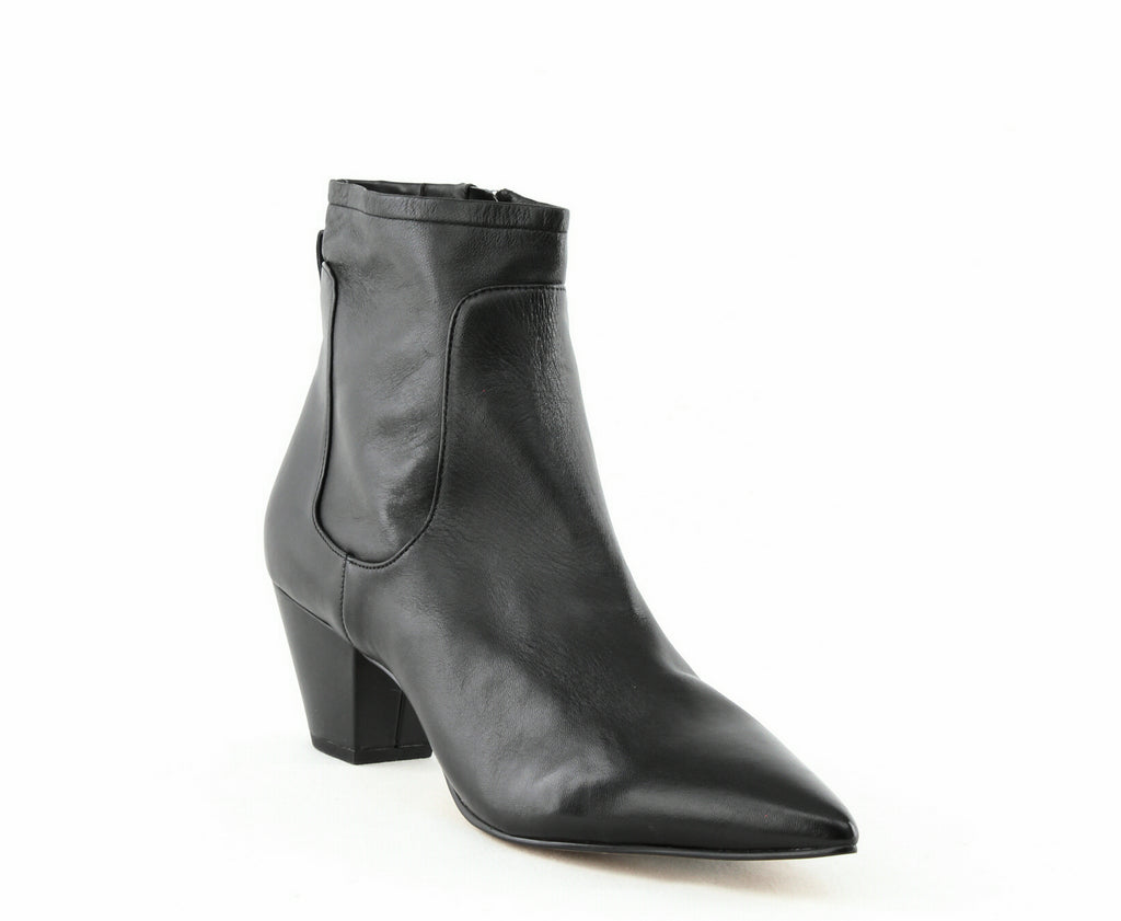 Yieldings Discount Shoes Store's Karlee Mid-Calf Leather Boot by Sam Edelman in Black