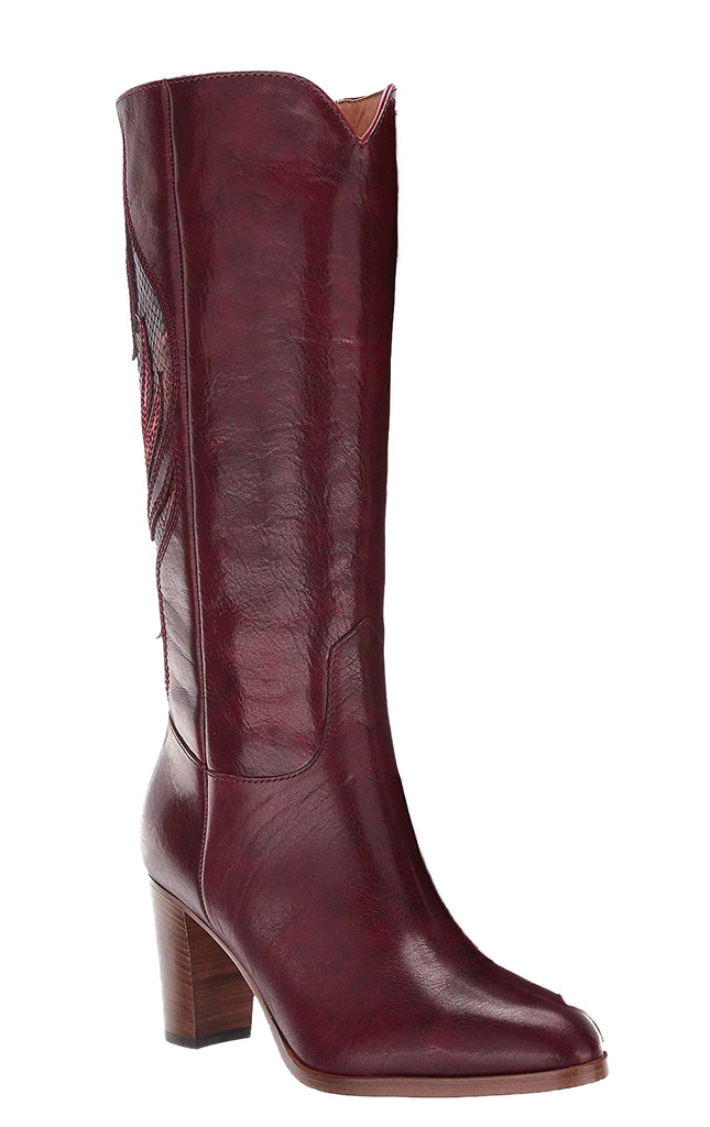 Yieldings Discount Shoes Store's June Flame Tall Boots by Frye in Wine Multi