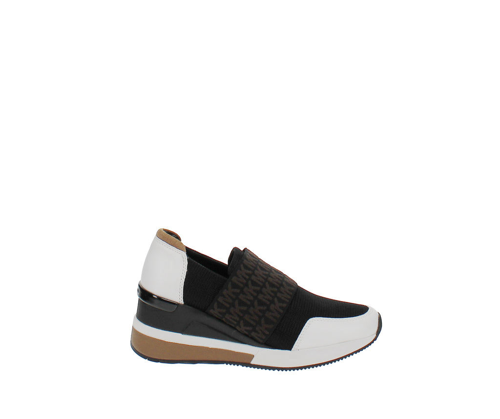 Yieldings Discount Shoes Store's Felix Bubble Trainer Sneakers by MICHAEL Michael Kors in Black/Optic White