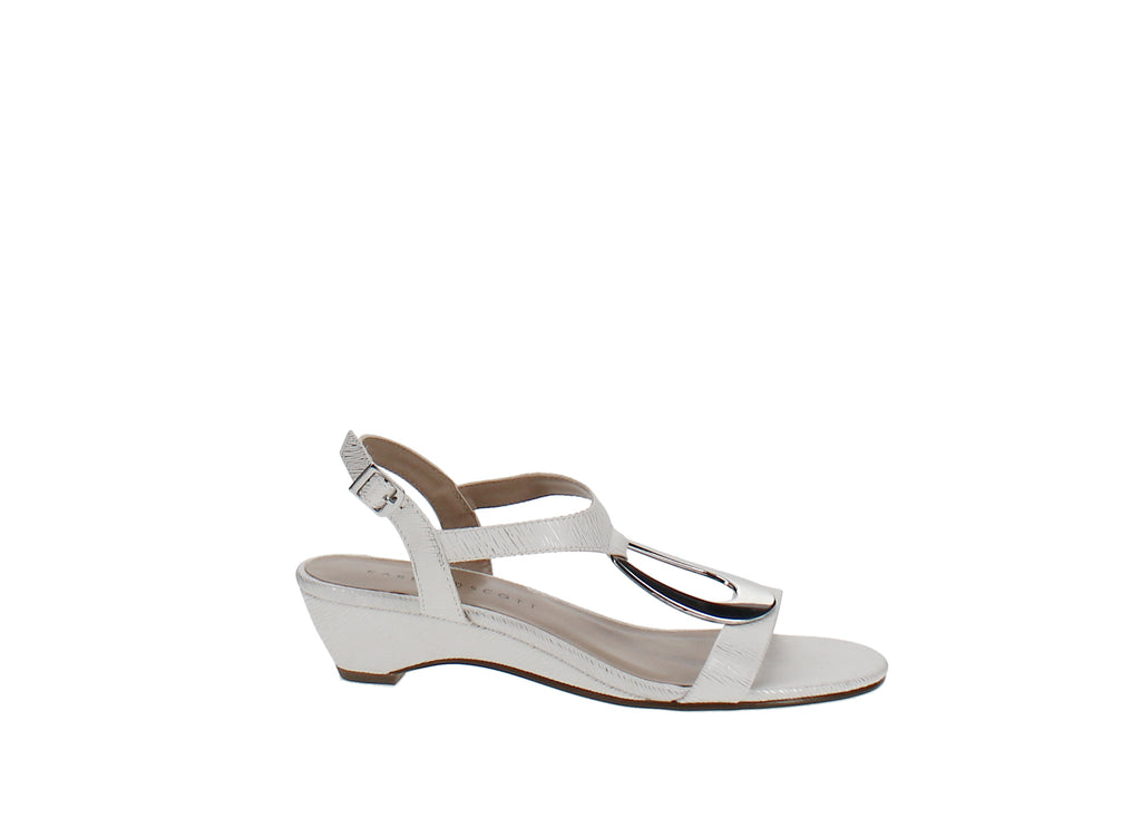Yieldings Discount Shoes Store's Carmeyy Wedge Sandals by Karen Scott in White Coastal
