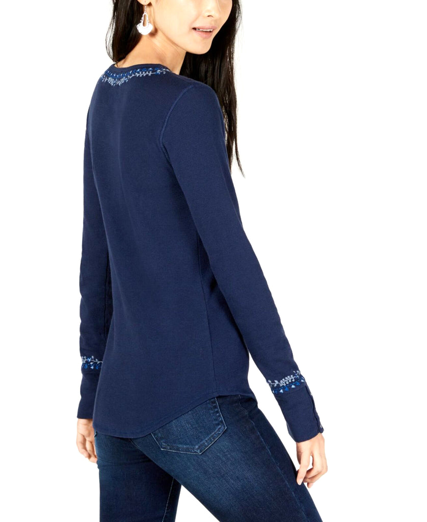 Lucky Brand | Cotton Embroidery Henley