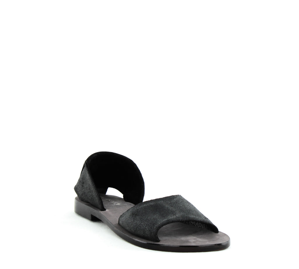 Yieldings Discount Shoes Store's Clarkson Two-Piece Flats by Kelsi Dagger in Black
