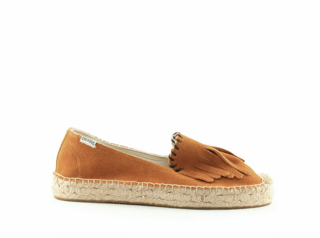 Yieldings Discount Shoes Store's Platform Espadrilles by Soludos in Saddle
