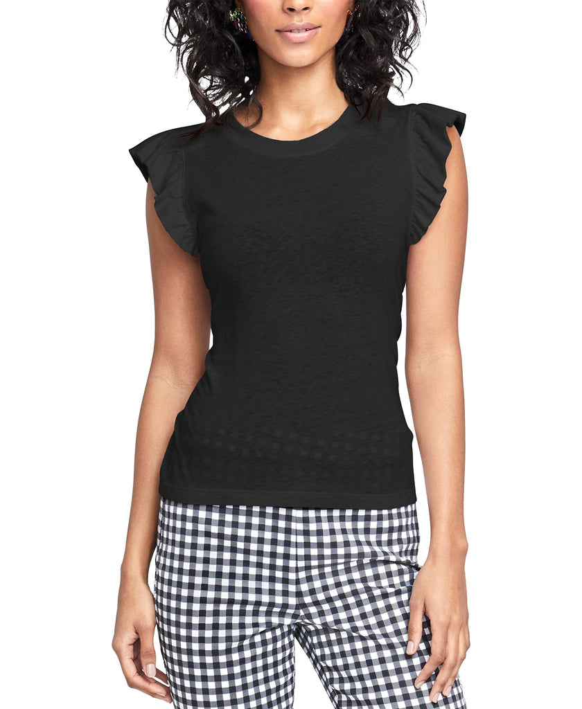 Yieldings Discount Clothing Store's May Tie-Back T-Shirt by RACHEL Rachel Roy in Black