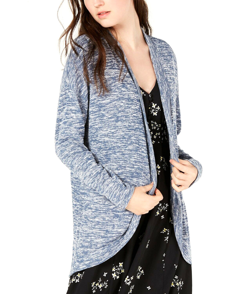 Yieldings Discount Clothing Store's Marled Cardigan by Hippie Rose in Blue Marled