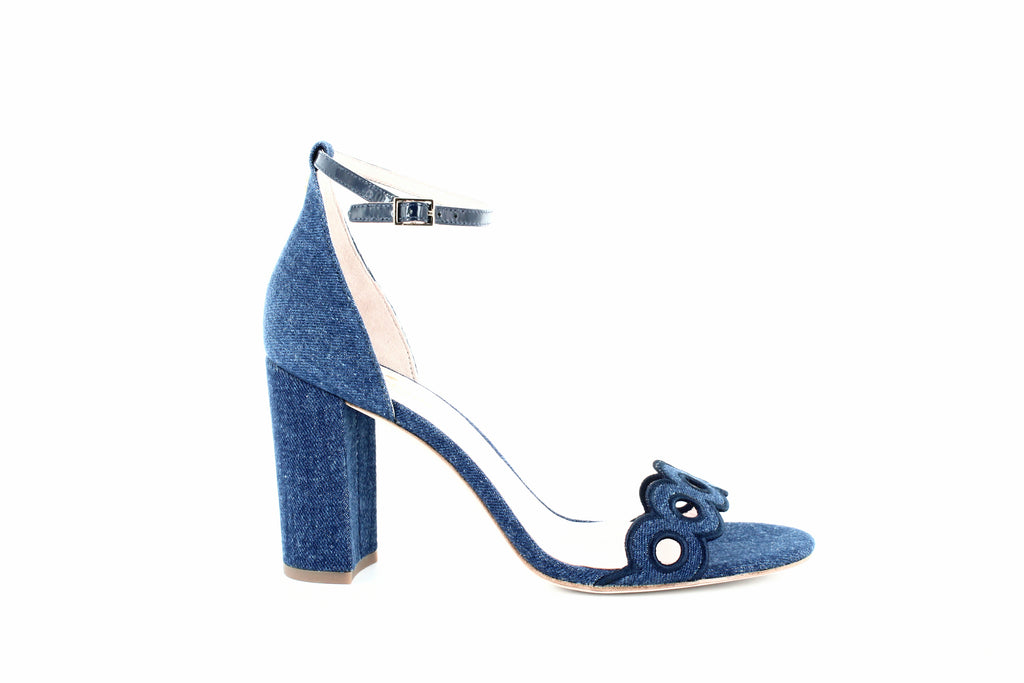 Yieldings Discount Shoes Store's Orson Block Heel Sandals by Kate Spade in Medium Blue