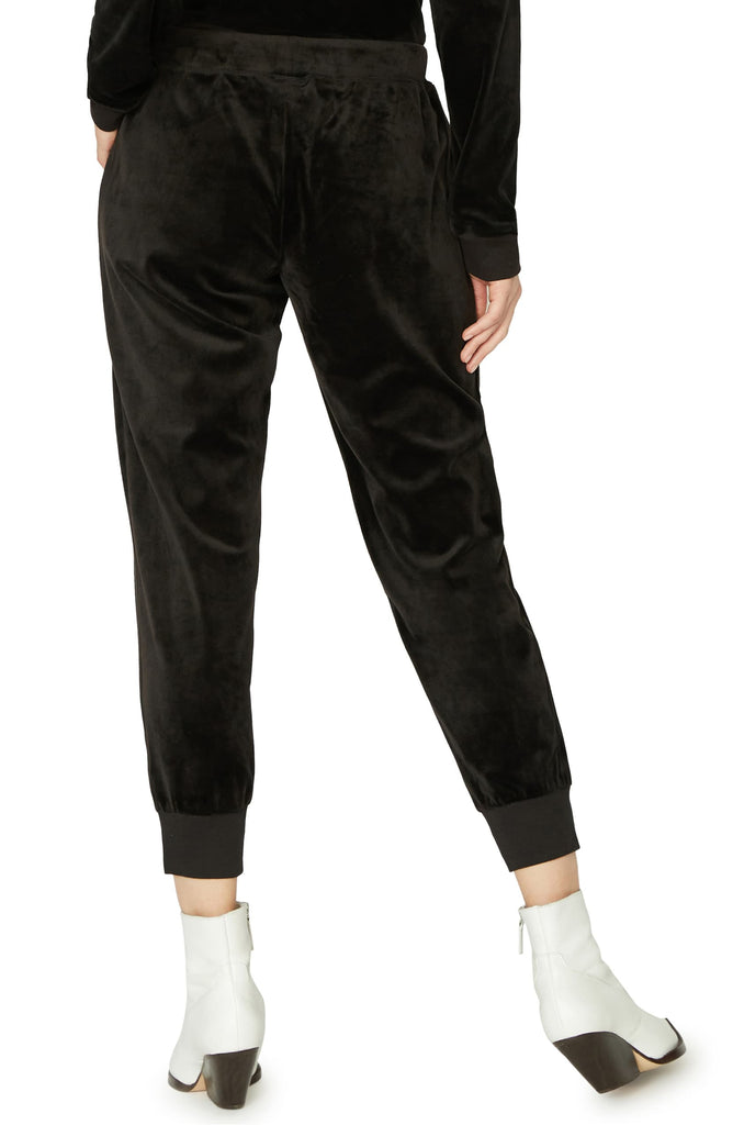 Yieldings Discount Clothing Store's Velour Track Jogger by Sanctuary in Black
