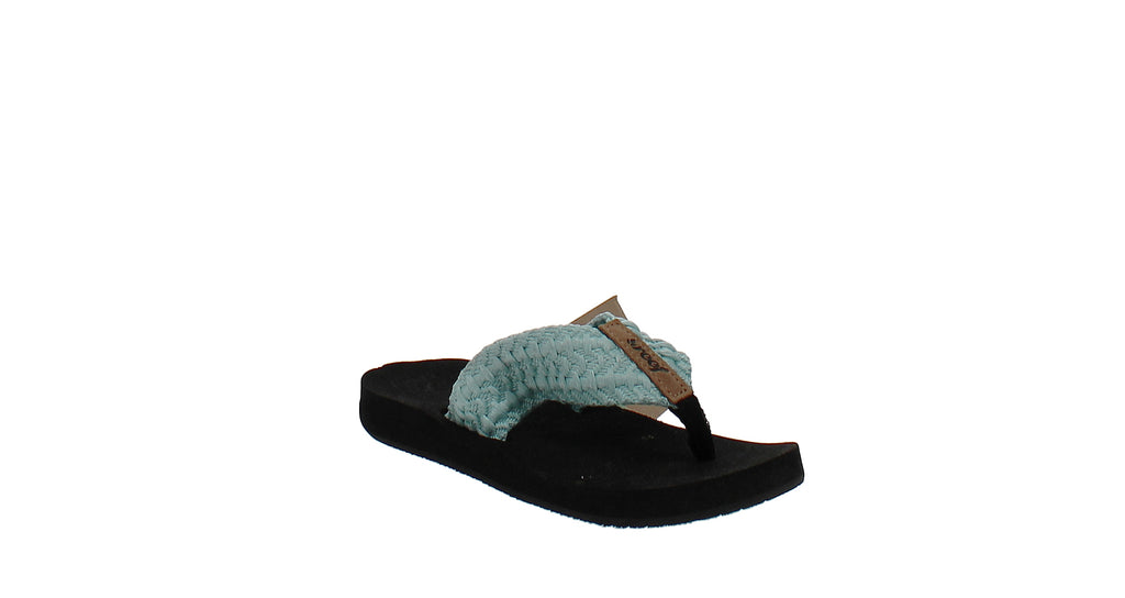 Yieldings Discount Shoes Store's Cushion Threads Thong Sandals by Reef in Aqua