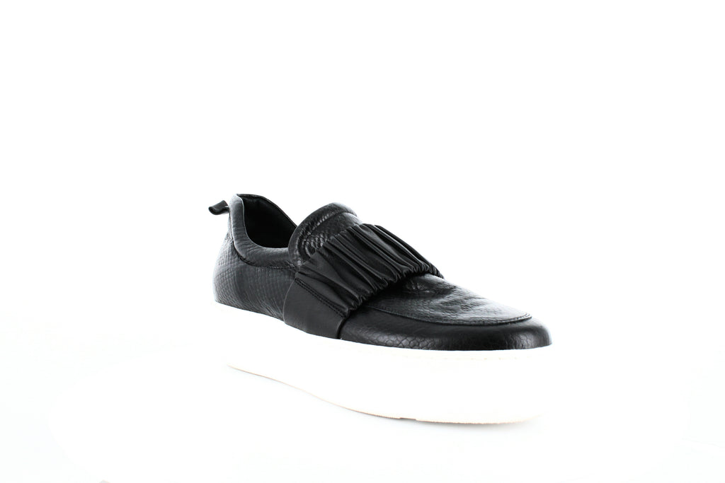 Yieldings Discount Shoes Store's Boston Platform Sneakers by Daniella Lehavi in Black Shine