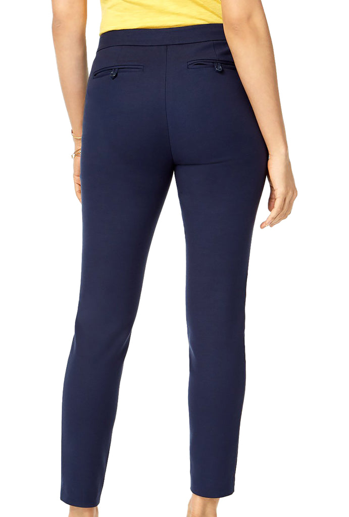 Yieldings Discount Clothing Store's Zip-Pocket Skinny Pants by Maison Jules in Blue Notte